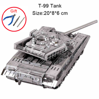3D Metal Puzzle China T99 Tank Military Model Laser Cut Assemble Jigsaw Parent child interaction Educational Toys For Adult Kids