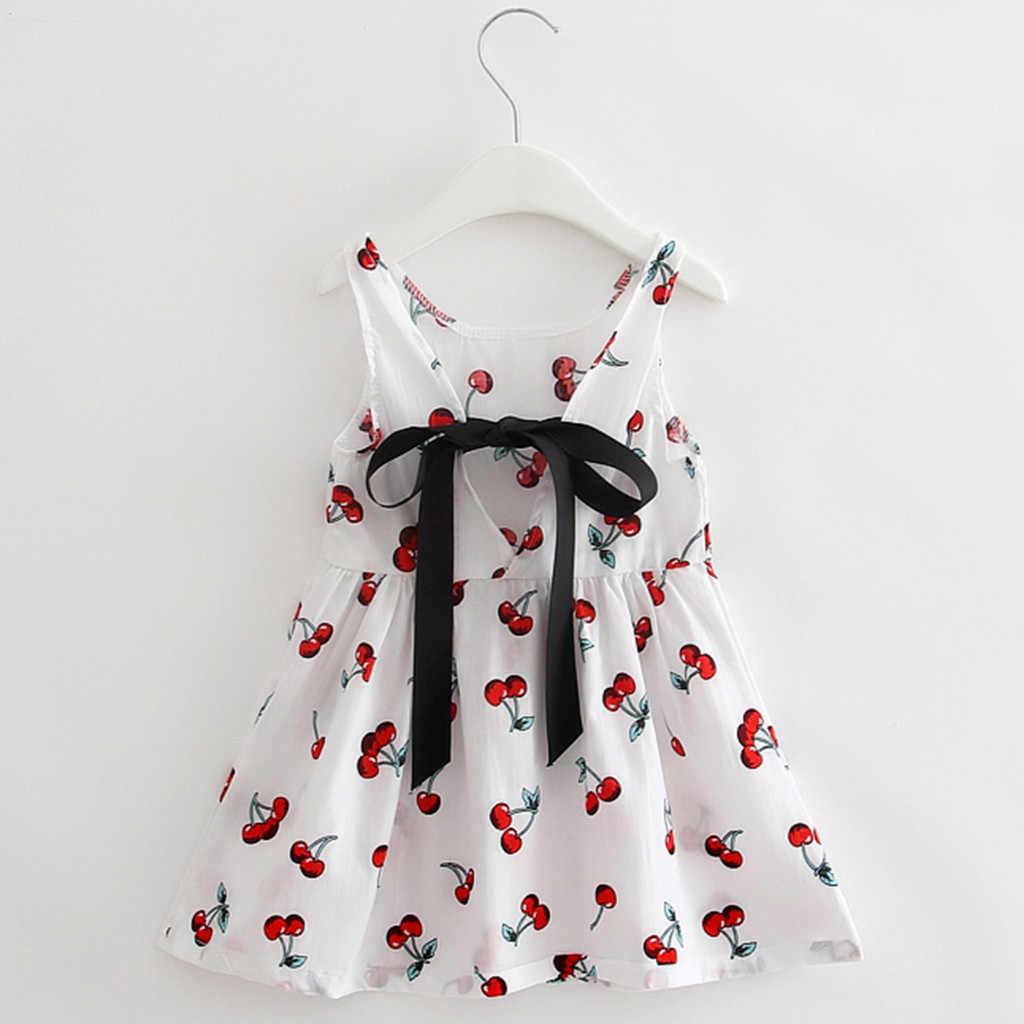 ARLONEET 2019 Yeni yaz bebek Elbise Toddler Kızlar Yaz Prenses Elbise Çocuklar Bebek Parti Düğün Kolsuz Elbiseler Z0207