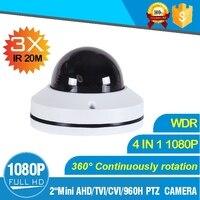 2 Mini TVI PTZ Camera 1080P TVI Output 2MP 3 Times Motorized Zoom Camera IR Distance