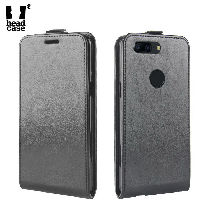 Head Case For Oneplus 5T Case Crazy Horse Flip Leather Case for Oneplus 5 A5000 Vertical Magnetic Leather Cover for Oneplus 5T