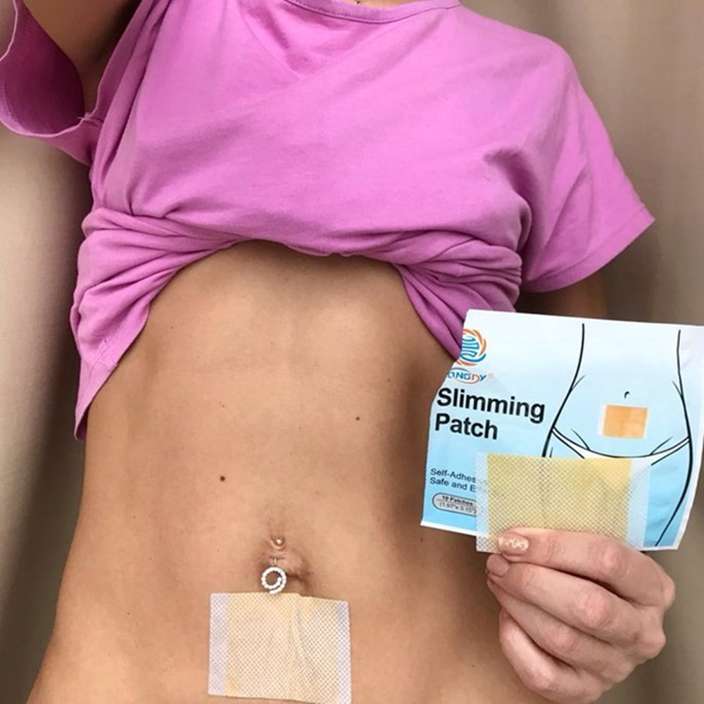KONGDY Natural Slimming Stick 100 Pieces=10 Bags Slimming Navel Sticker Slim Patch Weight Loss Burning Anti Cellulite Fat Patch 5