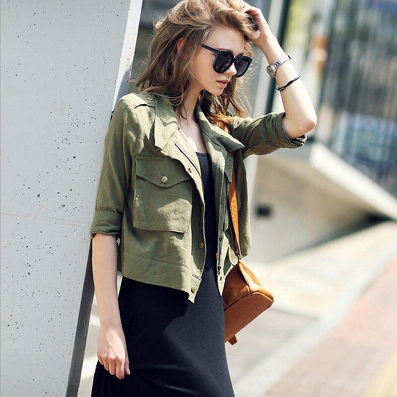 Aliexpress.com : Buy Women's Army Green Jackets Autumn Summer ...