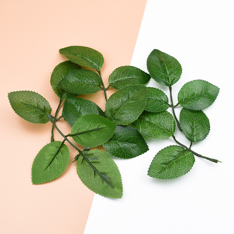 10pcs Decorative Flowers Wreaths Scrapbooking Silk Leaf Wedding Home Decor Accessories Diy Gifts Fake Leaves Artificial Plants