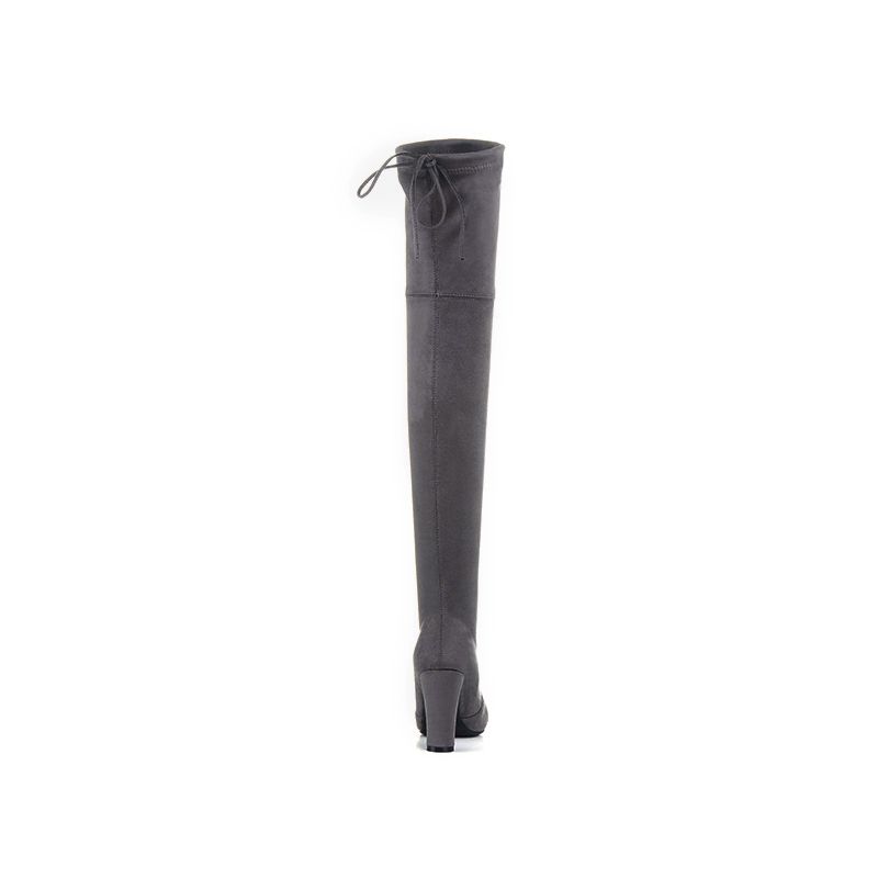 Image 4 - Thigh High Boots Women Suede Over the Knee Boots High Heel Sexy Party Wedding Overknee Boots Fall Winter Shoes Black Grey-in Over-the-Knee Boots from Shoes