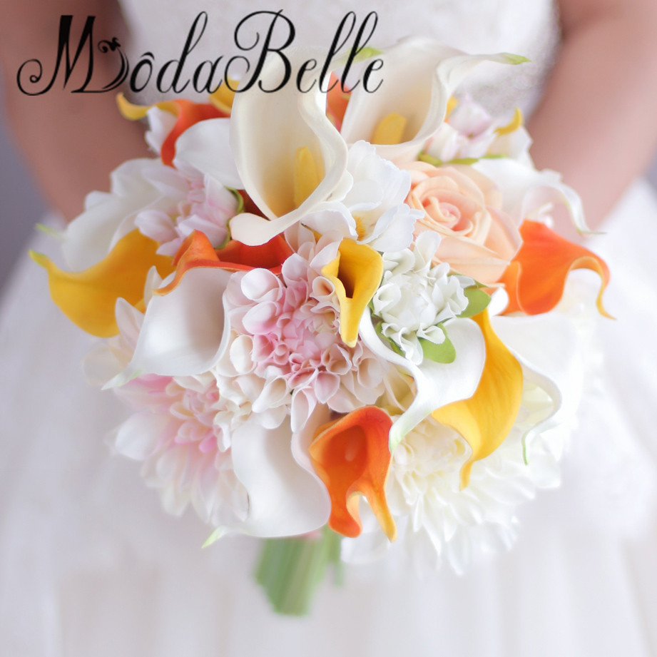 Stunning wedding bouquet flowers prices ideas wedding and flowers online get cheap artificial orange wedding flowers bridal bouquet izmirmasajfo Choice Image