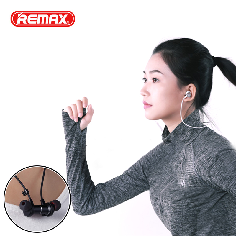 Remax RB-S7 Magnetic Bluetooth Running Neckband Headphones HIFI Sport Music Wireless Ste ...