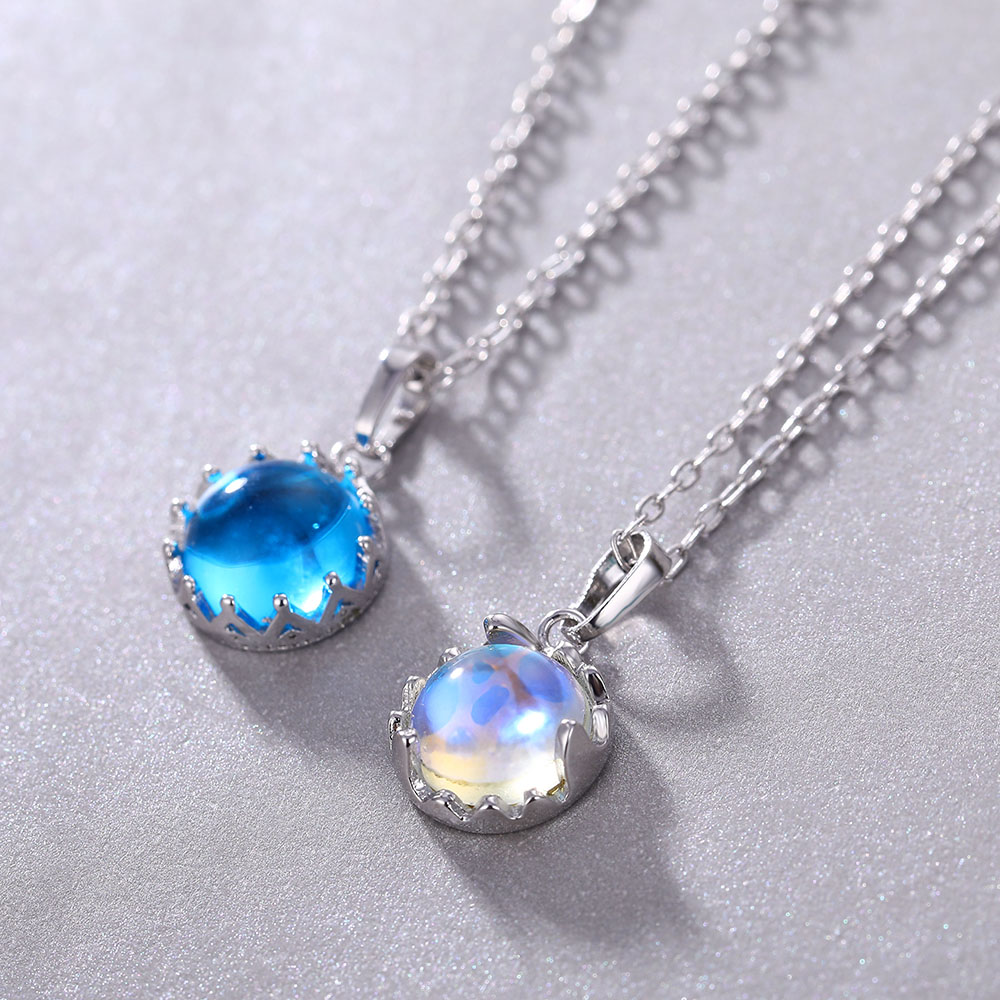 IPARAM-collar azul degradado con diseño de aurora para mujer, Gargantilla, cadena, cuello, clavícula, color plateado, joyería para fiesta