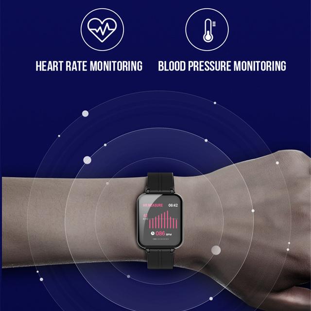 Sport Smart Watch B57 F8 Men IP67 Waterproof Heart Rate Monitor Blood Pressure Fitness Tracker Women Wearable Watch