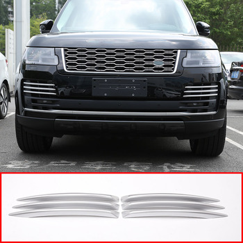 For Land rover Range Rover Vogue 2018 Car ABS Chrome Front Fog Light Grille Cover Trim Accessories
