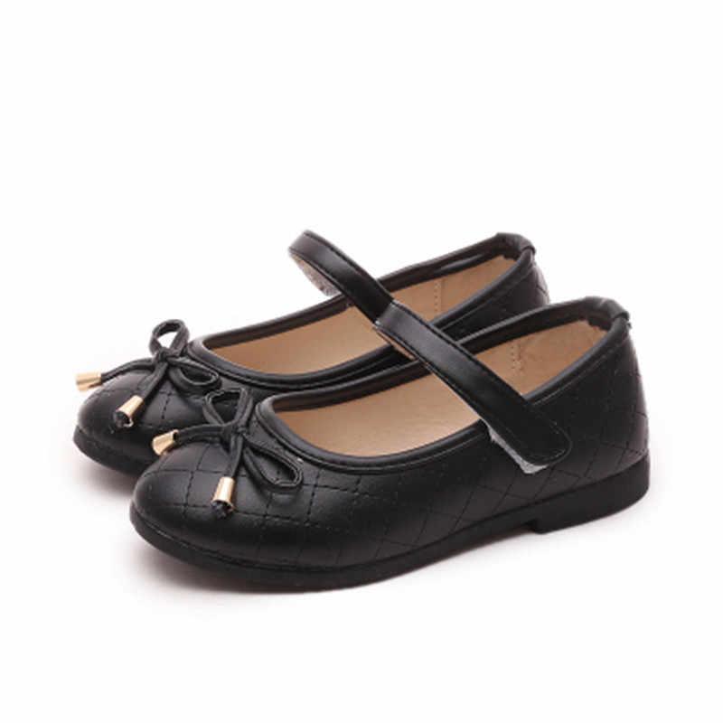 Детская обувь; Новинка; сезон весна-осень; обувь для маленьких девочек на плоской подошве; детская обувь; цвет черный, белый, розовый, красный; обувь принцессы для девочек; 4 цвета