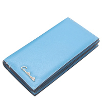 Genuine Leather Trifold Clutch Wallet For Women Luxury Women Wallets Long Solid Hasp Design Card Holder Purse