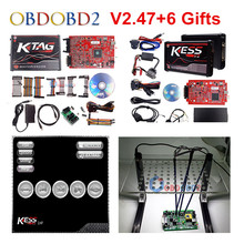 Online Red KESS V5.017 V2.53 + 4 LED KTAG V7.020 V2.23 + LED BDM FRAME No Tokens KESS 5.017 + K TAG K Tag 7.020 ECU Programmer