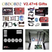 Online Rode Kess V5.017 V2.53 + 4 Led Ktag V7.020 V2.23 + Led Bdm Frame Geen Tokens Kess 5.017 + k TAG K Tag 7.020 Ecu Programmeur