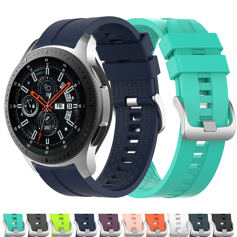 For Samsung Galaxy Watch 46mm Smart Watch Sport Silicone Strap Band Rubber  Bracelet Belt 22MM Watchband For Huami Amazfit 2/2S