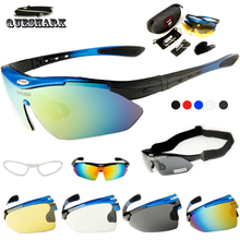 Queshark Men Women Polarized Cycling Sunglasses Bicycle Glasses Ciclismo Eyewear Mountain Road Racing Bike Goggles+Myopia Frame