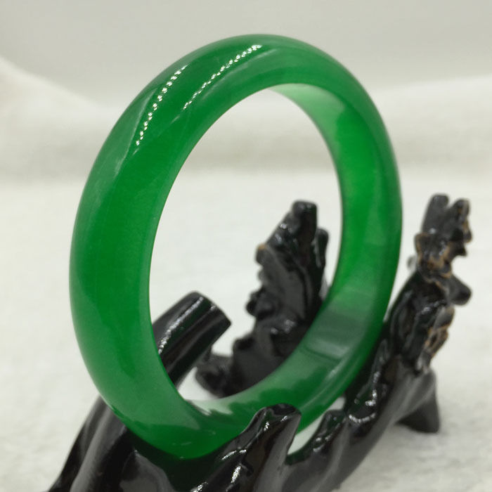 FREE SHIPPING>>>@@ A-15 65mm Vintage Chinese Beautiful Green stone Gems Bracelet Bangle NEW цена