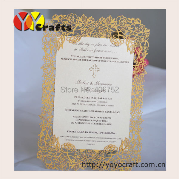elegant rose wedding invitations card laser cut simple wedding invitation with free shipping