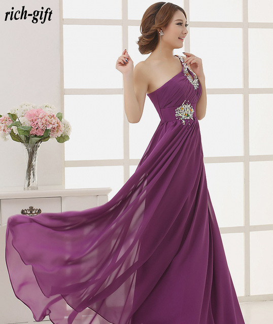 9952e23097 girls summer women dress casual beautiful sexy long prom gown 2015 with  crystal purple plus size maxi dress rich-gift S15