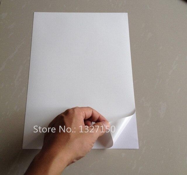 Us 2754 5 Off50 Blätter A4 Matte Pp Synthetischen Papier Selbst Klebe Aufkleber Drucker Papier Für Laser Drucker In 50 Blätter A4 Matte Pp