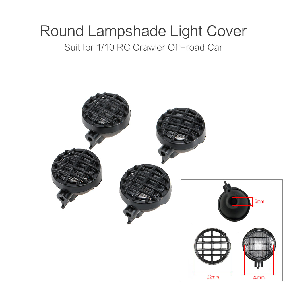 Round Lampshade RC Car LED Light Lamp Cover for 1/10 RC Rock Crawler Cars Off-road Truck Axial SCX10 D90 Tamiya CC01 RC Part willys jeep 1 10
