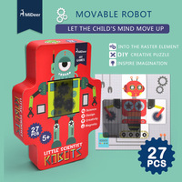 Mideer Children Movable Robot Paper Raster Puzzle Early Childhood Cognitive Learning toys