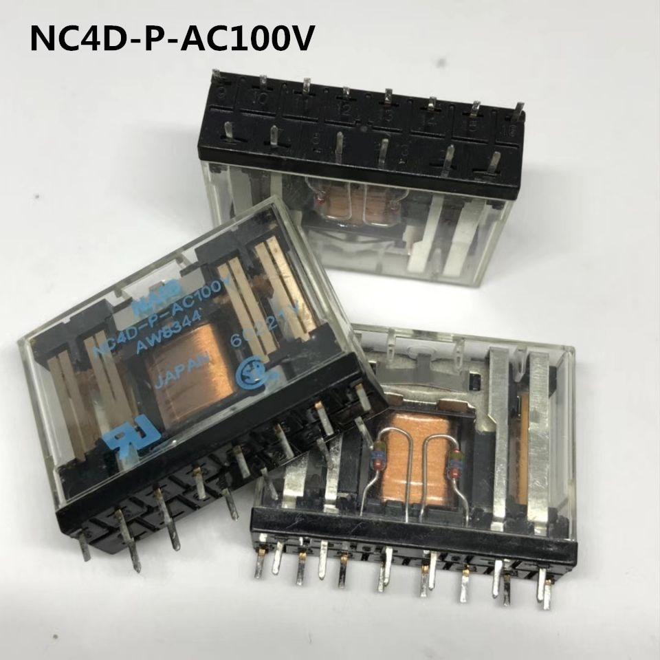 все цены на HOT NEW relay NC4D-P-AC100V AWB8344 NC4D-P-100VAC 100VAC AC100V 14PIN онлайн