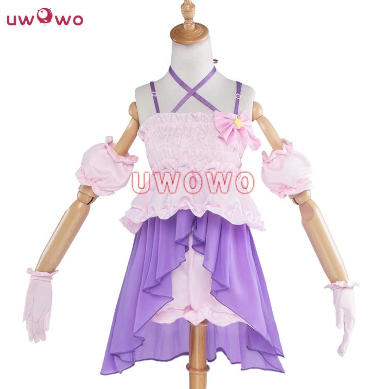 UWOWO Futaba Anzu Cosplay Game Anime THE IDOLM@STER CINDERELLA GIRLS Pink Purple Dress UWOWO IDOLMASTER Costume