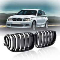 High Quality 2pcs Matte Black Car Kidney Grilles Surroundings Covers For BMW E87 08 11