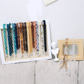 Luxury Acrylic Handbag Accessories Detachable Resin Bag Strap Women Shoulder Chains Brand Handbags Purse Belt Casual Bag Straps handbag