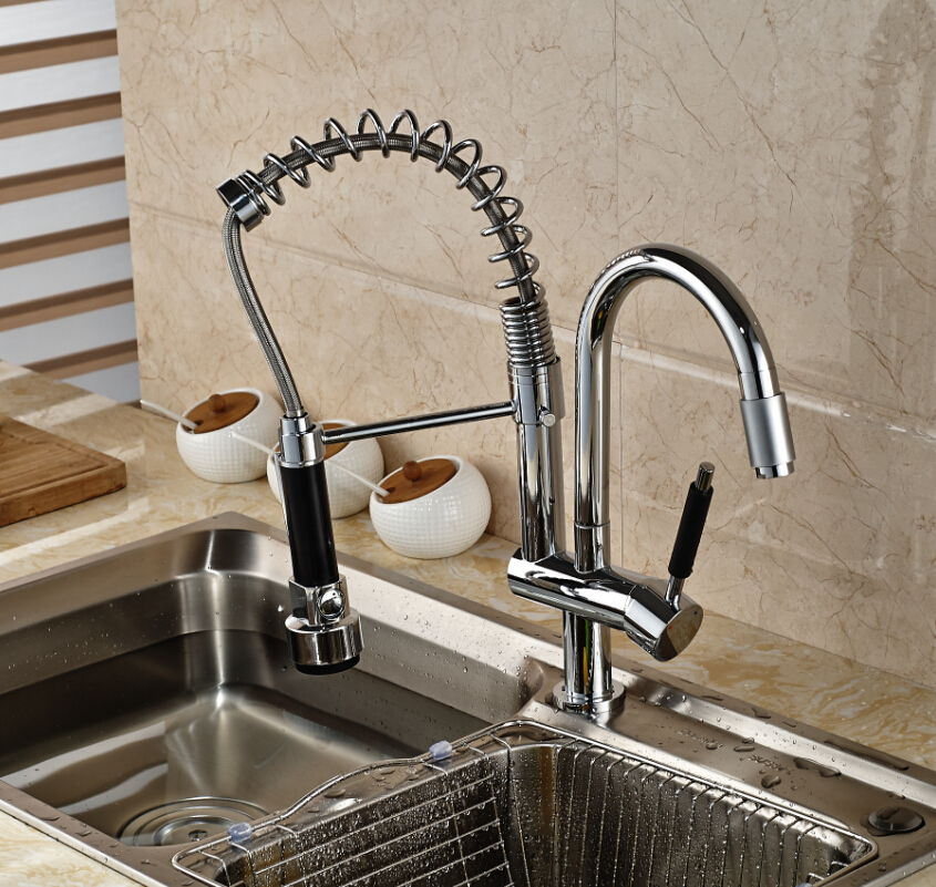Single Handle RGB Color Changing Kitchen Mixer Faucet Two Rotation ...