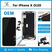 الصف AAA + + OEM OLED ل فون X XR XS شاشة الكريستال السائل غيار للشاشة عدسة Pantalla مع 3D اللمس محول الأرقام