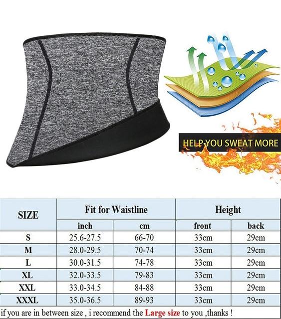 NINGMI Men Body Shaper Waist Trainer Fat Compression Brace Modeling Belt Tummy Trimmer Strap Slimming Cincher Neoprene Shapewear 5
