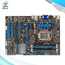 Для p8h77-v le оригинальный используется для рабочего материнская плата для intel h77 lga 1155 для нм i3 i5 i7 DDR3 32 Г SATA3 USB3.0 ATX На Продажу