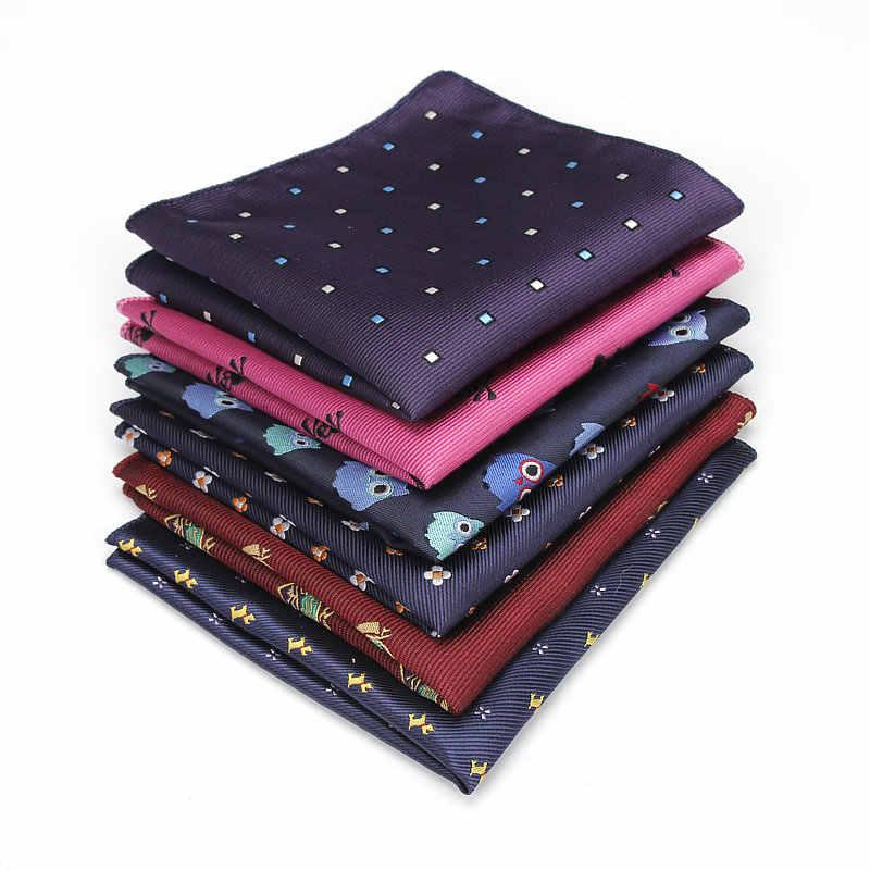 KR1328 Yeni erkek Polyester Ipek Mendiller Cep Kareler Karışık Desenler Jakarlı Takım Elbise Ceketler Düğün İş