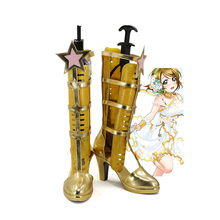 Lovelive Love live! Maki Nishikino Cosplay Boots Golden Shoes Love live Cosplay Custom Made все цены
