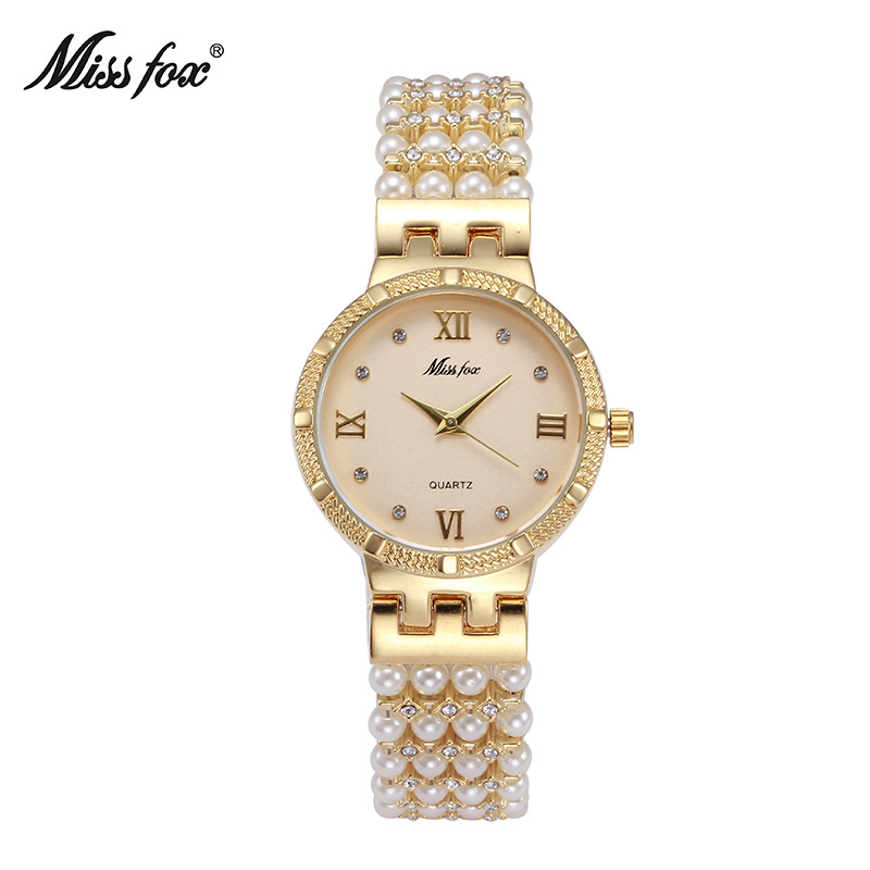 Elegant Fashion Golden Women Jewelry Watches Famous Brand Lu