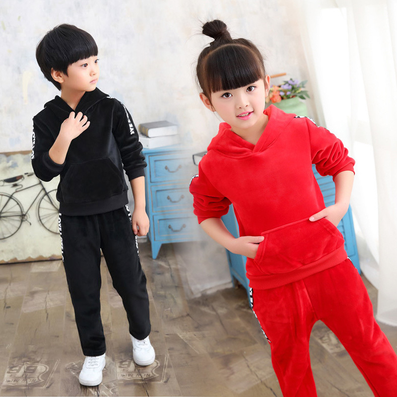 Children Warm Clothing Sets Autumn Winter New Fashion Boys Girls Comfortable Sweater+Pant Two-piece Casual Kids Sport Suit 2016 new winter spring autumn girls kids boys bunnies patch cotton sweater comfortable cute baby clothes children clothing