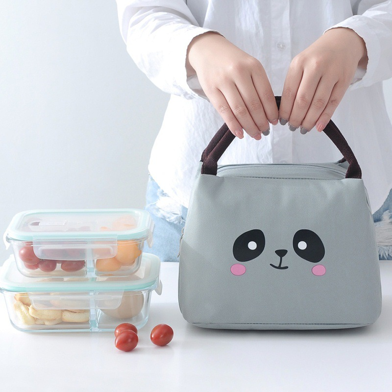 Купить милая мультяшная портативная утолщенная сумка для еды термосумка