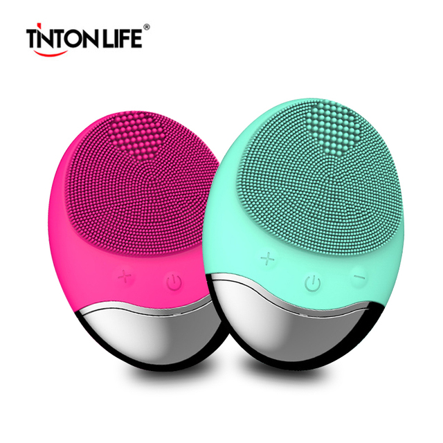 TINTON LIFE USB Base Charge Deep Cleaning Face Electric Face Cleanser remove Make-up Residue Dry And Wet Face Cleaning Brush Powered Facial Cleansing Devices