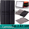 Magnet Smart Stand pu leather case cover for Lenovo Tab 2 A7-10F A7-10 7 inch tablet cover case + screen protectors+stylus