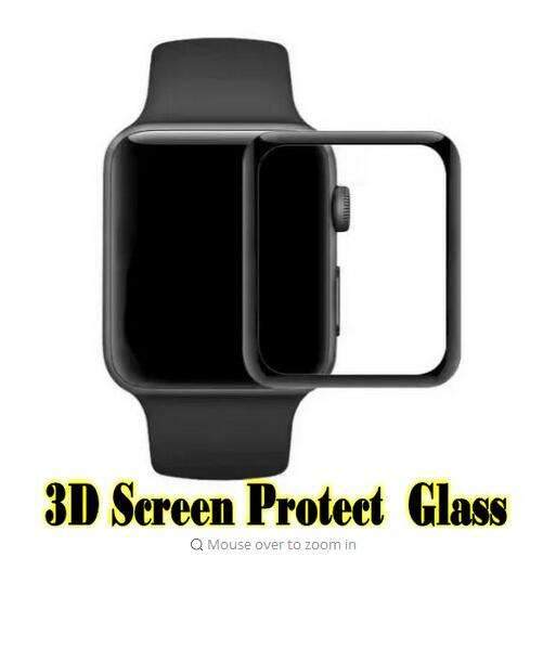 Black For Apple Watch Screen Protect Glass Film 38mm 42mm size Used for apple watch Series1 and Series2 Free shipping