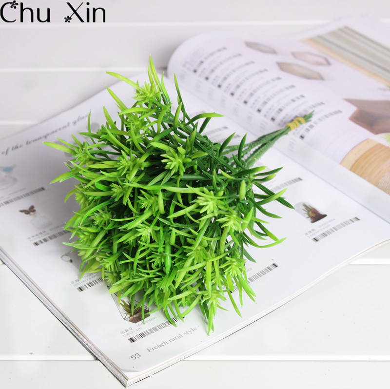 Bouquet Decorative Mini Green Grass Flowers Bonsai