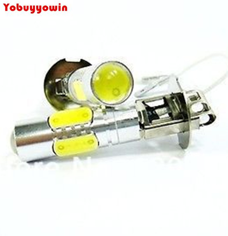 Free Shipping 2Pcs 7.5W High Power 360 Degree White <font><b>H3</b></font> <font><b>CREE</b></font> Chips <font><b>LED</b></font> Bulbs For Fog Lights or Driving image