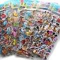 10 Folhas/lote 3D Inchado Adesivos Bolha Mista Dos Desenhos Animados Mickey Carros Spiderman Waterpoof DIY Brinquedo Das Crianças Das Crianças Da Menina do Menino Venda quente