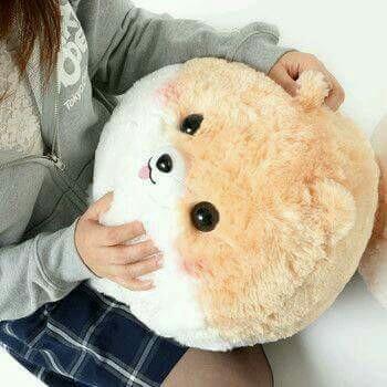 fluffy-amuse-fuwa-mofu-pometan-and-nakamatachi-big-plush-dog-stuffed-puppy-white-black-brown-colour-ball-shaped