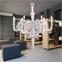 Rome chandelier modern wood resin simple chandelier D70/D90cm 27.5''/35.5'' living room bedroom Restaurant Cafe LED pendant lamp