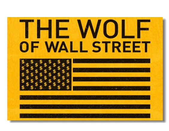 The Wolf of Wall Street Movie Dollar Flag Printed Art Wall Stick ...