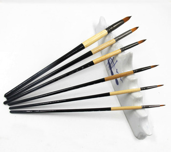 6 Piece Fine Line Detailing Paint By Numbers Artist Brush Set Nylon