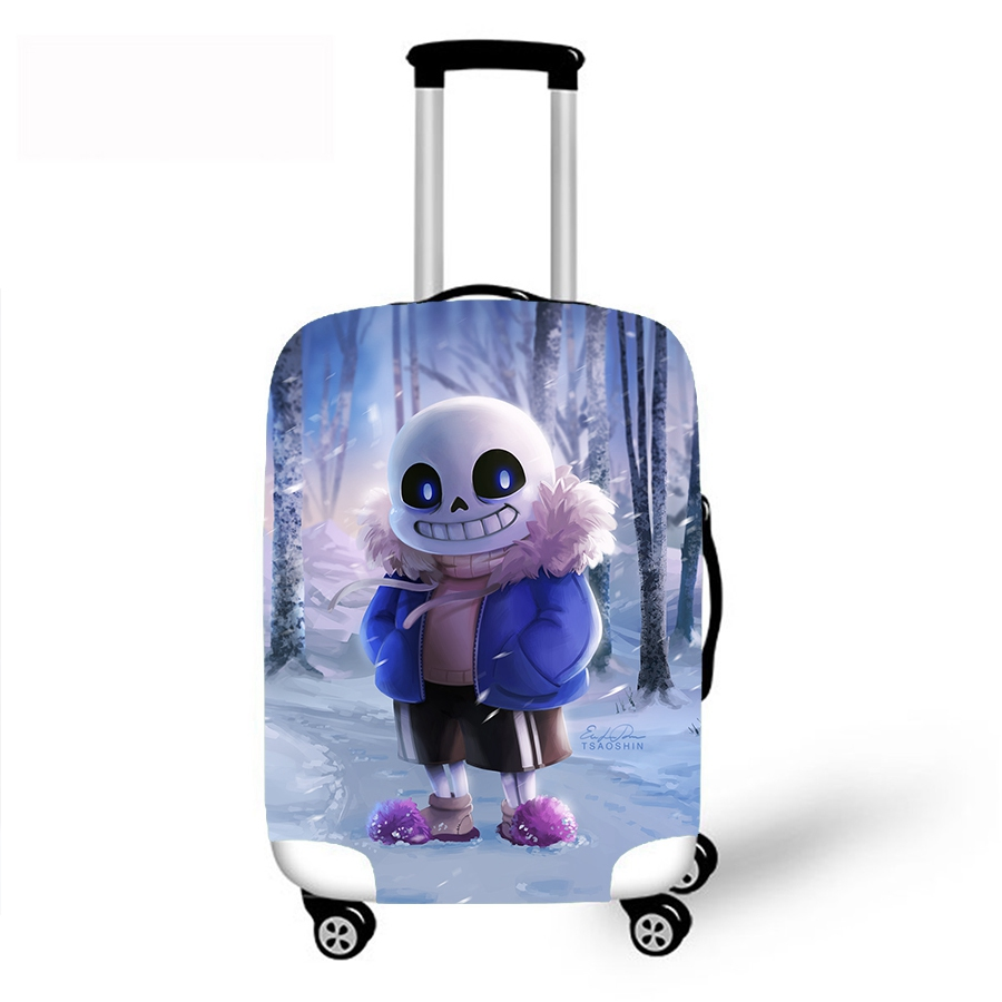 Game Undertale Sans 3D Print Luggage Protective Case Waterproof Cover For 18-30 Inch Trolley Suitcase Elastic Travel Rain Covers