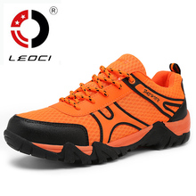LEOCI 2016 Summer Hiking Shoes Breathable Outdoor Shoes Anti-Slip Sport Shoes Men Sneakers Botas De Montana Size 39-45